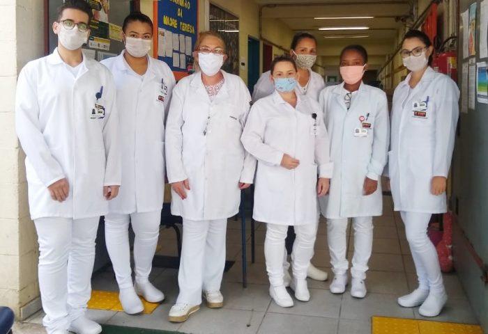 Alunos do Auxiliar de Enfermagem