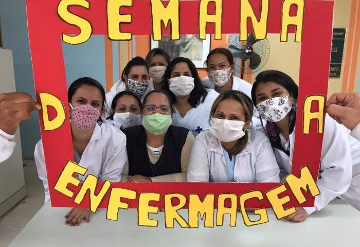Alunos do curso técnico de Auxiliar de Enfermagem